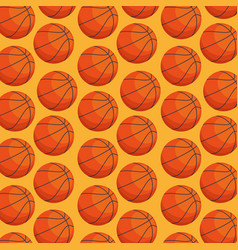 basketball balloon sport pattern vector image