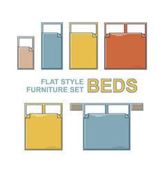 beds furniture set vector image