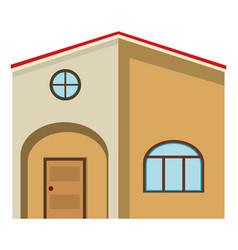 big house painted in brown vector image