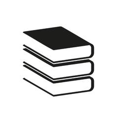 Black book simple icon vector