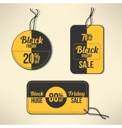 black friday discount labels set vector image