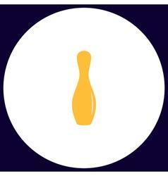 bowling pin computer symbol vector image