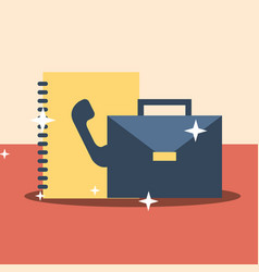 business office equipment vector image