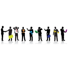 Business people silhouettes vector