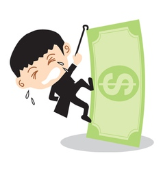 Businessman Climbing Banknote vector image