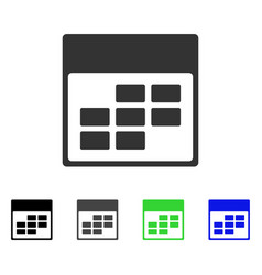 Calendar month grid flat icon vector