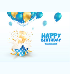 Celebrating 5 th years birthday 3d vector