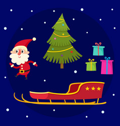 christmas collection of cartoon santa claus vector image