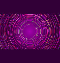 circular vortex purple light motion background vector image