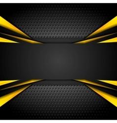 Dark tech corporate abstract background vector