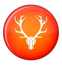 Deer antler icon flat style vector
