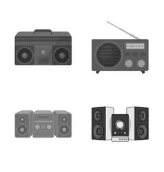 Design of boombox and sign collection vector