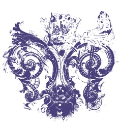 distressed royal fleur de lys vector image
