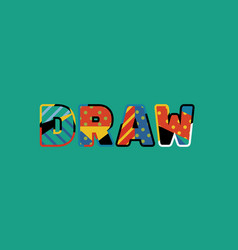Draw concept word art vector