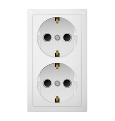 Dual electrical socket type f receptacle from vector