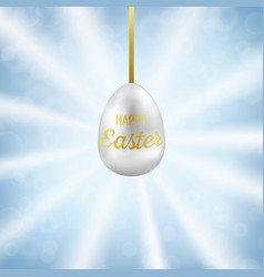 easter egg on blue sky greeting pattern vector image