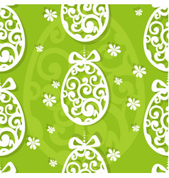 easter egg openwork appliques seamless background vector image