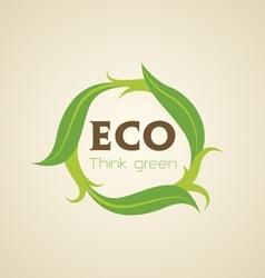 Eco Badge vector image