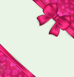 Elegant bow for present gift vector image