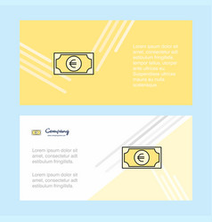 euro abstract corporate business banner template vector image