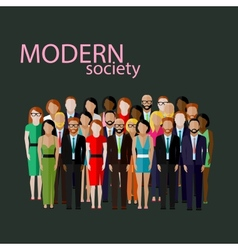 Flat business or politics community a large vector