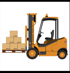 Fork lift truck vector