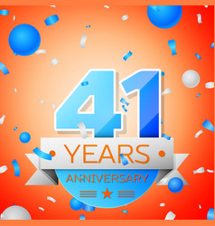 forty one years anniversary celebration vector image