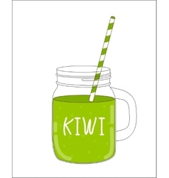 Fresh Kiwi Smoothie Healthy Food vector image vector image