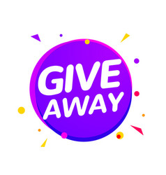 giveaway announcement media event social banner vector image
