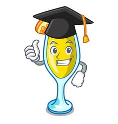 Graduation mimosa character cartoon style vector