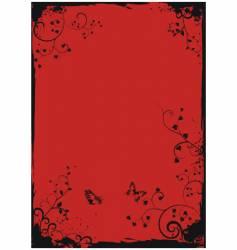 grunge floral frame boader vector image