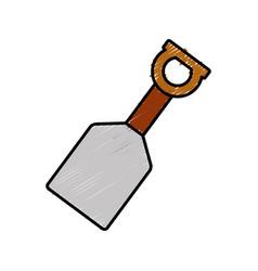 Hand shovel icon vector