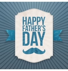 Happy Fathers Day Banner with greeting Ribbon vector