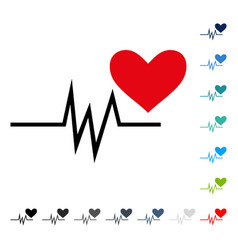 Heart pulse signal icon vector
