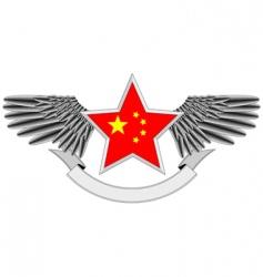 heraldic Chinese vector image