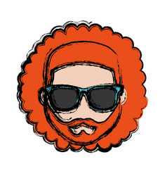 Hipster man icon vector