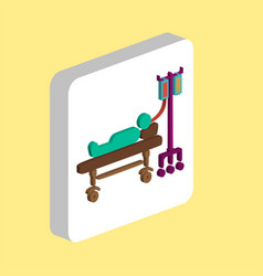 hospitalized computer symbol vector image
