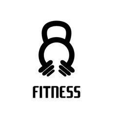 Kettlebell and barbell design template vector
