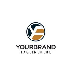 Letter yf logo design concept template vector