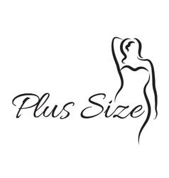 Logo plus size woman Curvy woman symbol logo vector image