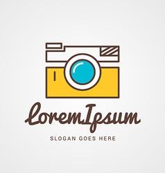 logo template thin line camera vector image