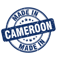 Made in cameroon blue grunge round stamp vector