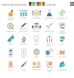 Medical Colorful Icons Set 04 vector