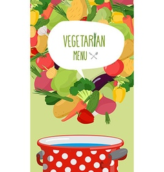 Menu of vegetables Vegetarian food Concept vector image