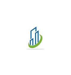 Modern building business company logo vector