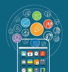 Modern smartphone communication vector