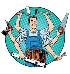 multi-armed master repair professional vector image