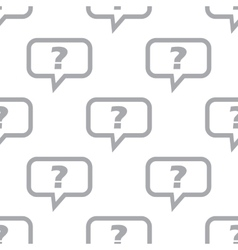 New Question seamless pattern vector image