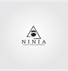 Ninja logo template creative for business vector