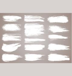 paint brush white ink grunge brush strokes vector image